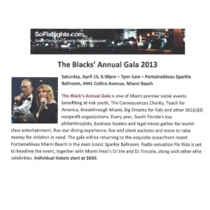 The Blacks\' Annual Gala 2013